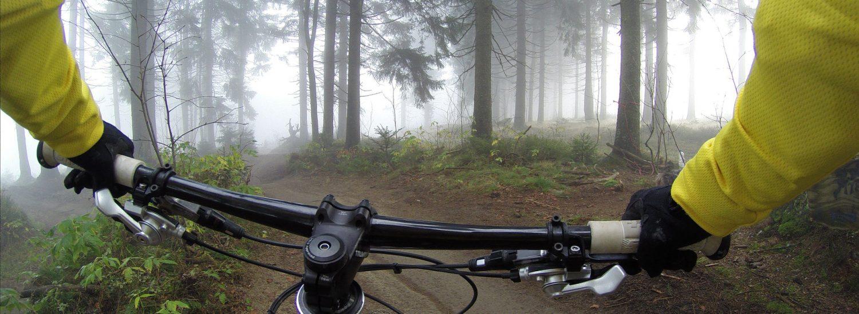 Mountainbike rute set fra rytter