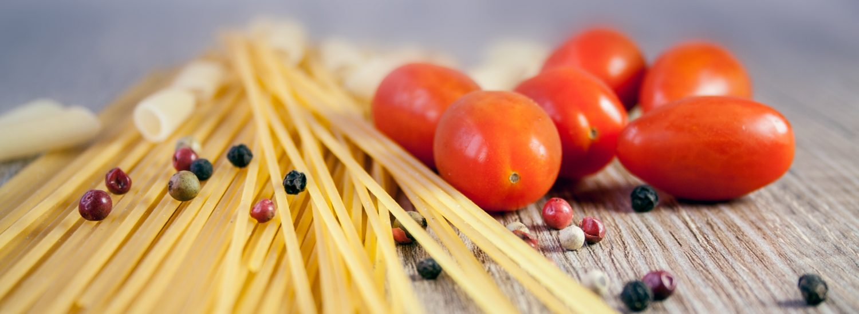 Kulhydrater fra pasta, nudler og grøntsager